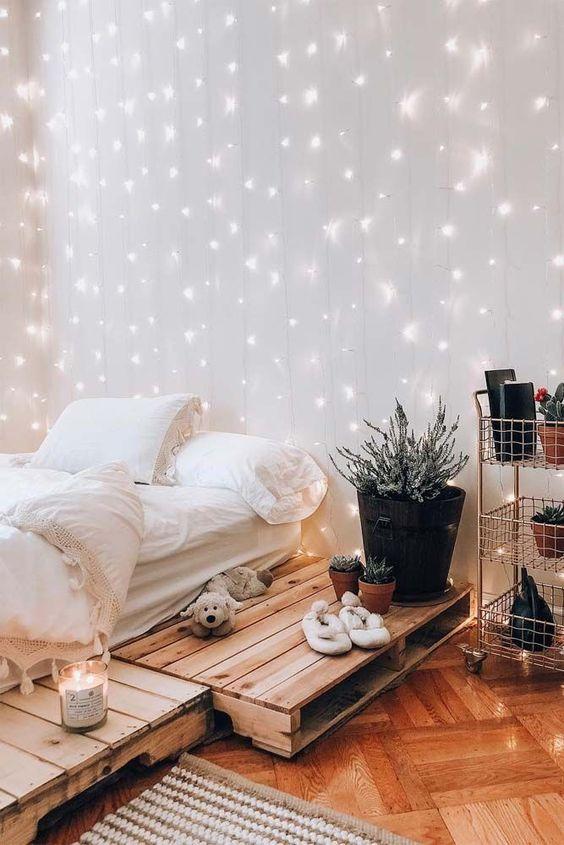 trang trí phòng ngủ với đèn led