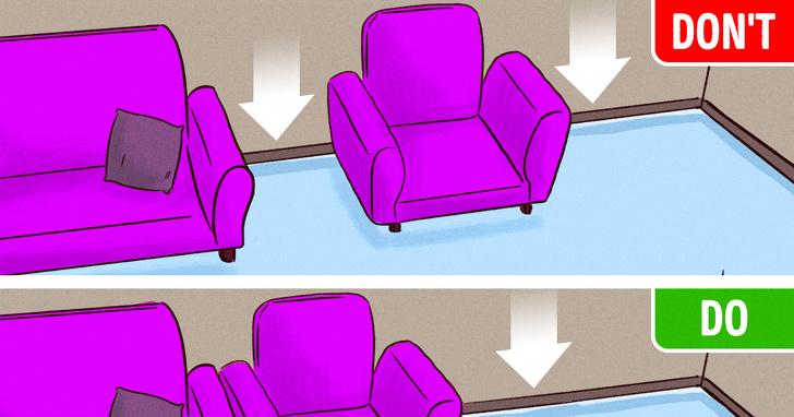 mách bạn 10 quy tắc thiết kế nội thất lỗi thời cần nên phá bỏ