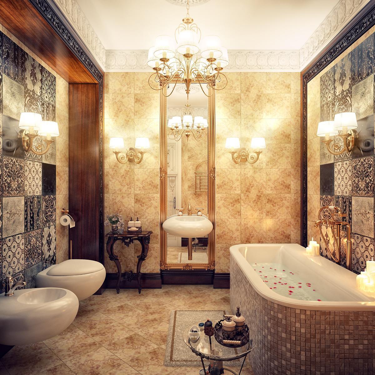 nội thất nhà tắm tân cổ điển