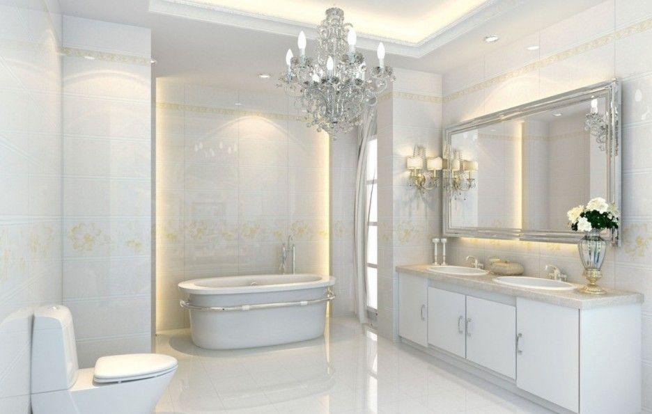 nội thất nhà tắm tân cổ điển với gam màu trắng