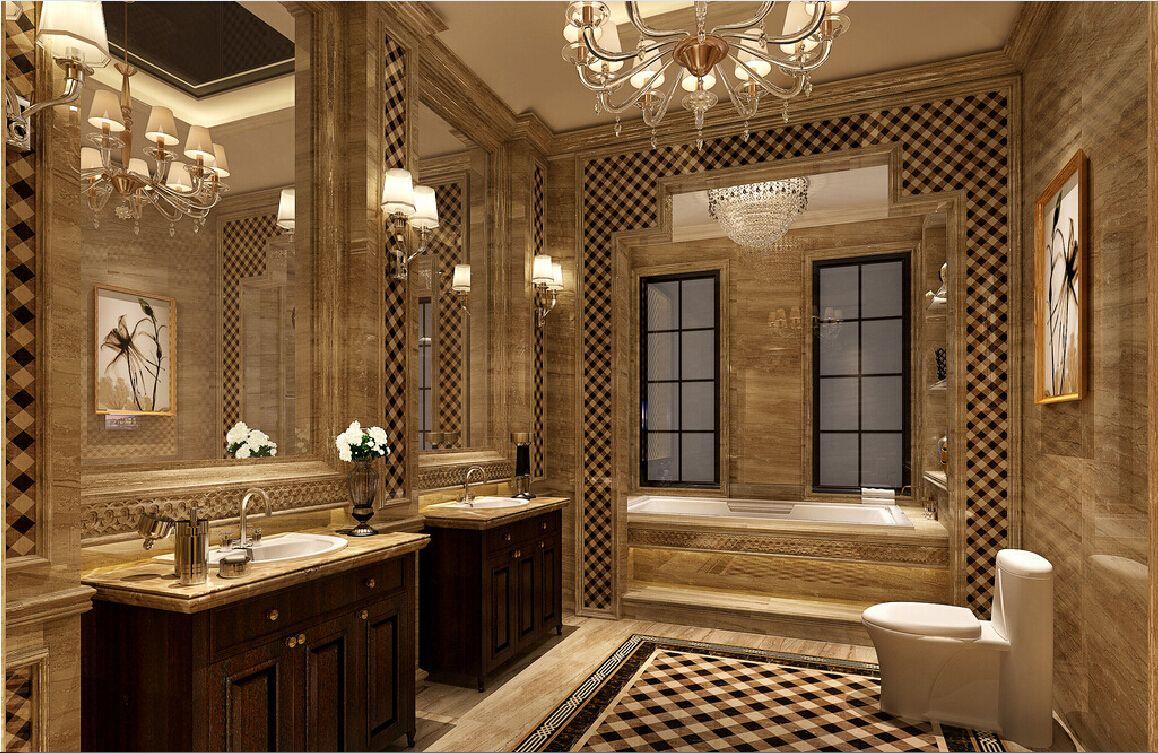 nội thất nhà tắm phong cách tân cổ điển