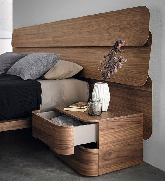 Tab đầu giường gỗ tự nhiên