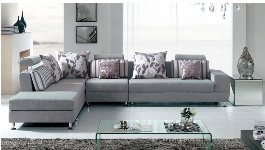 Bàn trà vuông phù hợp sofa góc chữ L