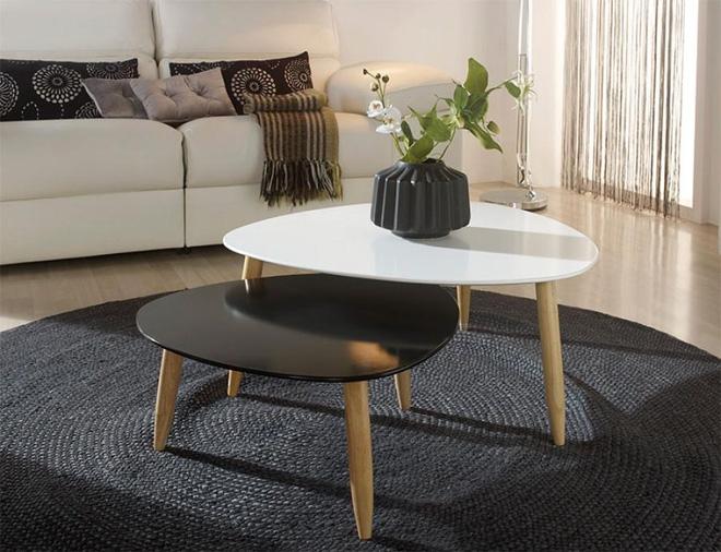chọn bàn trà cùng tông màu ghế sofa