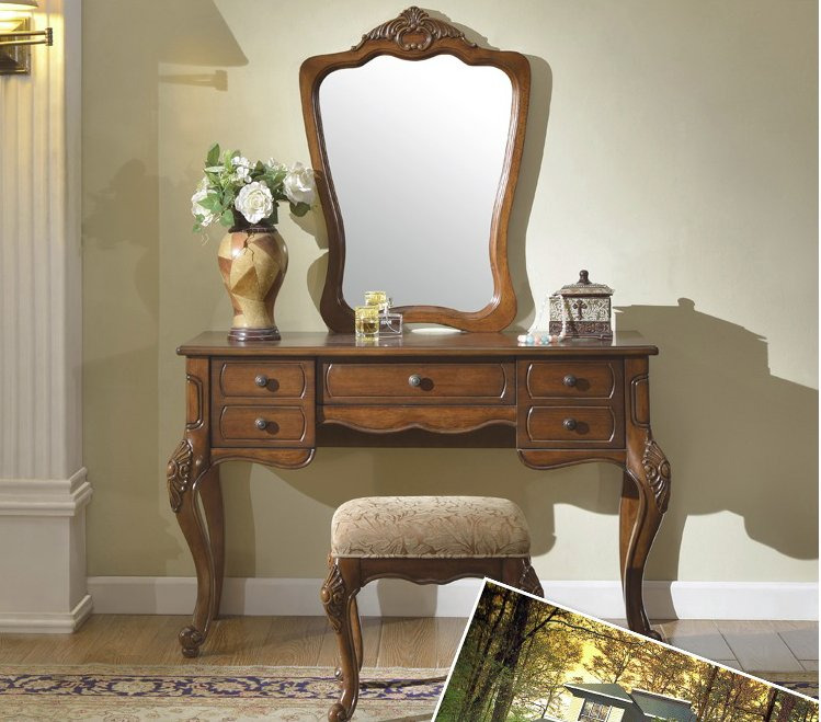 bàn trang điểm gỗ