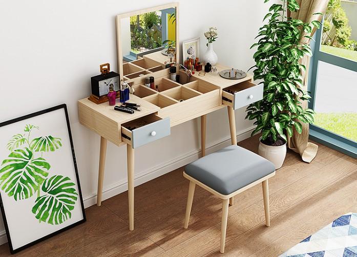 bàn trang điểm gỗ tự nhiên ấn tượng