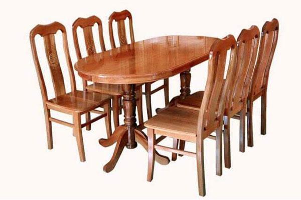 bàn ăn hình oval