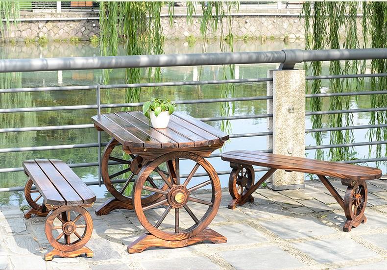 bàn ghế sân vườn bằng gỗ tự nhiên