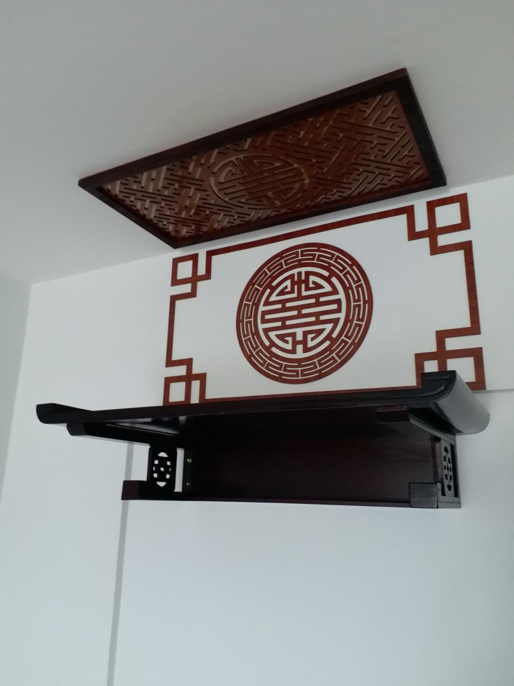 bàn thờ treo tường gỗ đẹp