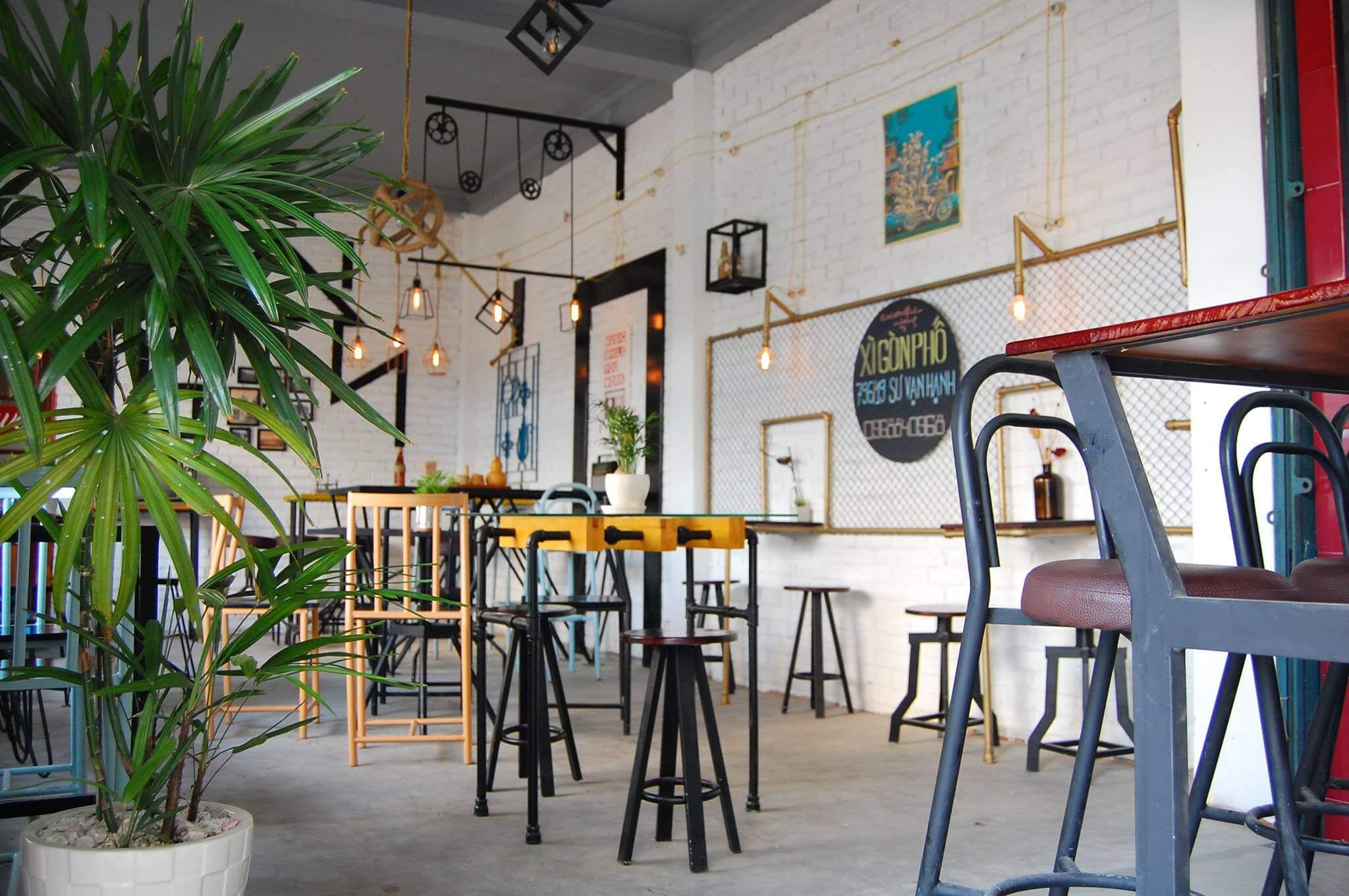 Bố trí bàn ghế quán cafe phù hợp