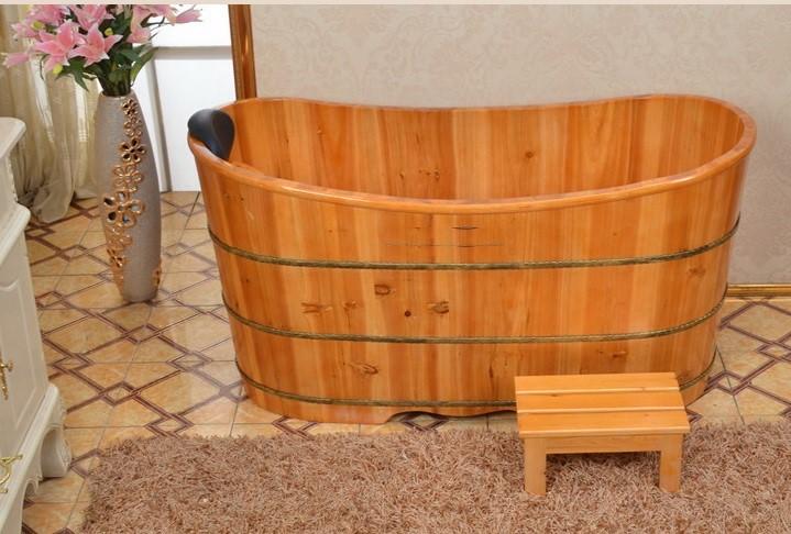 bồn tắm gỗ mít