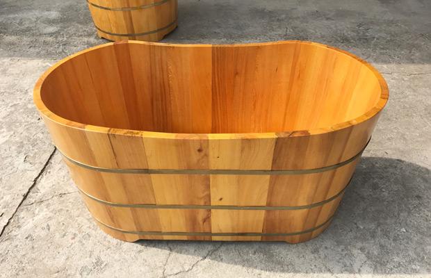 bồn tắm gỗ pu mơ