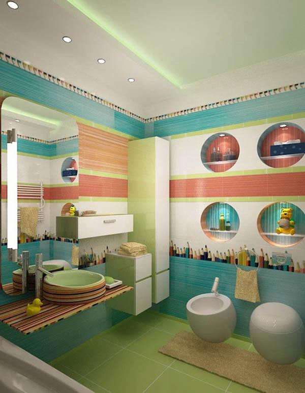 Những ý tượng trang trí phòng tắm cho bé yêu 1
