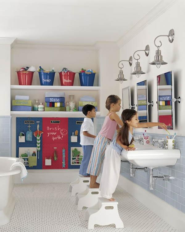 ý tưởng trang trí phòng tắm cho bé yêu 13