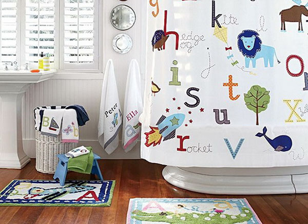 ý tưởng trang trí phòng tắm cho bé yêu 14