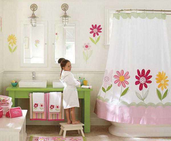 ý tưởng trang trí phòng tắm cho bé yêu 16