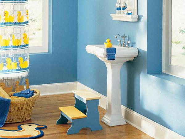 Những ý tượng trang trí phòng tắm cho bé yêu 3