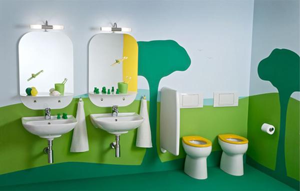 Những ý tượng trang trí phòng tắm cho bé yêu  5