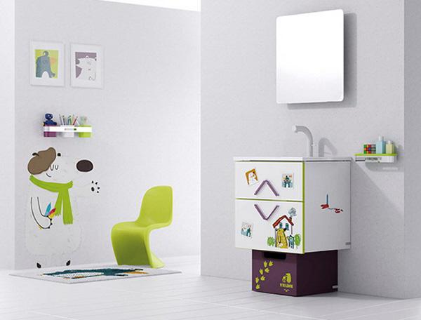 ý tưởng trang trí phòng tắm cho bé yêu 9