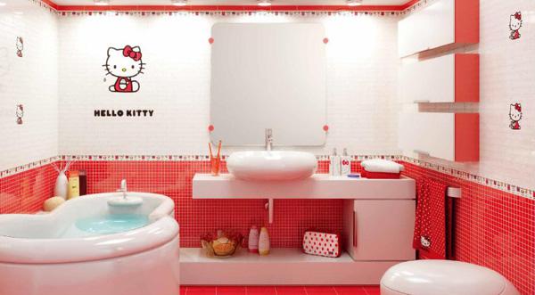 Những ý tượng trang trí phòng tắm cho bé yêu