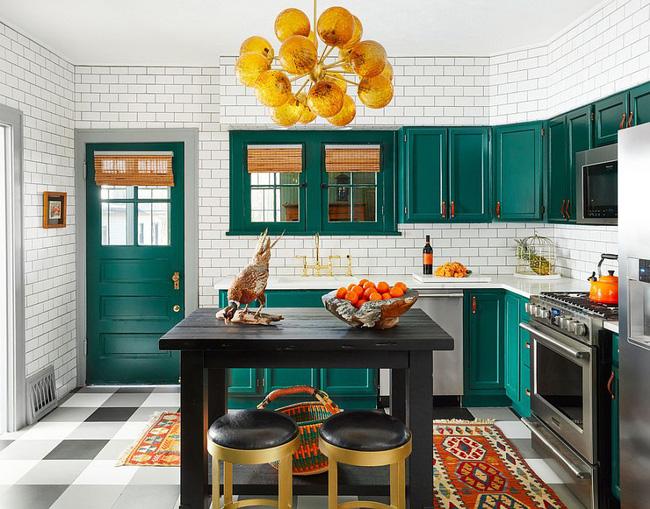 cách phối màu nội thất phòng bếp