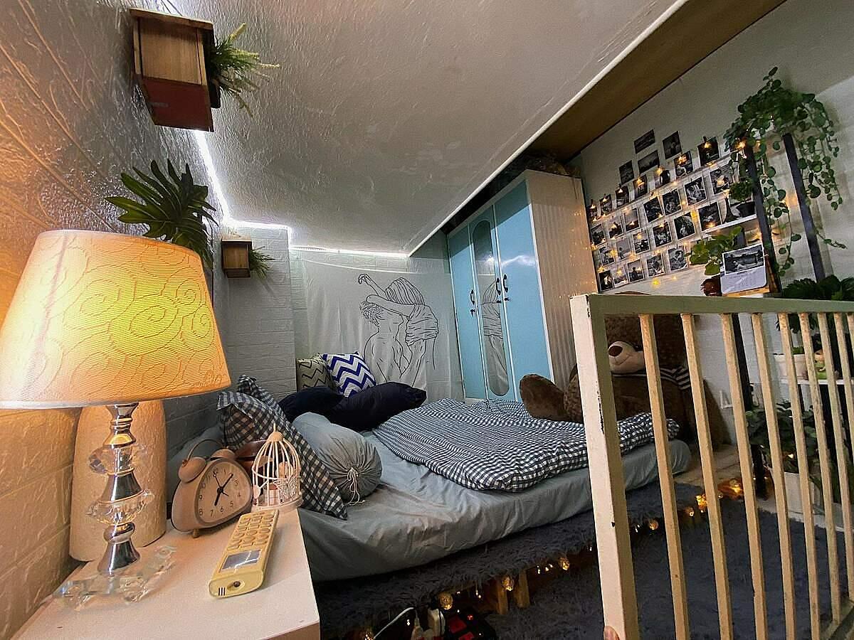 cải tạo phòng trọ nhỏ xinh bằng tranh ảnh