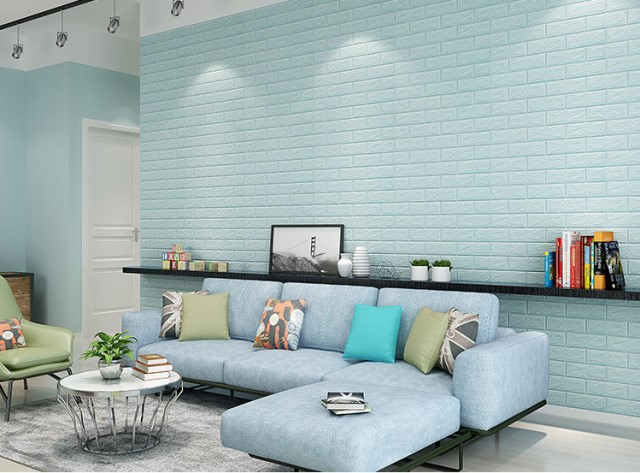 dán xốp decor tường