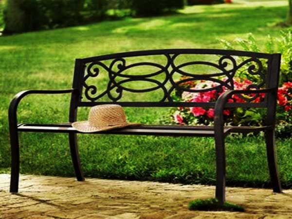 ghế băng dài bằng sắt
