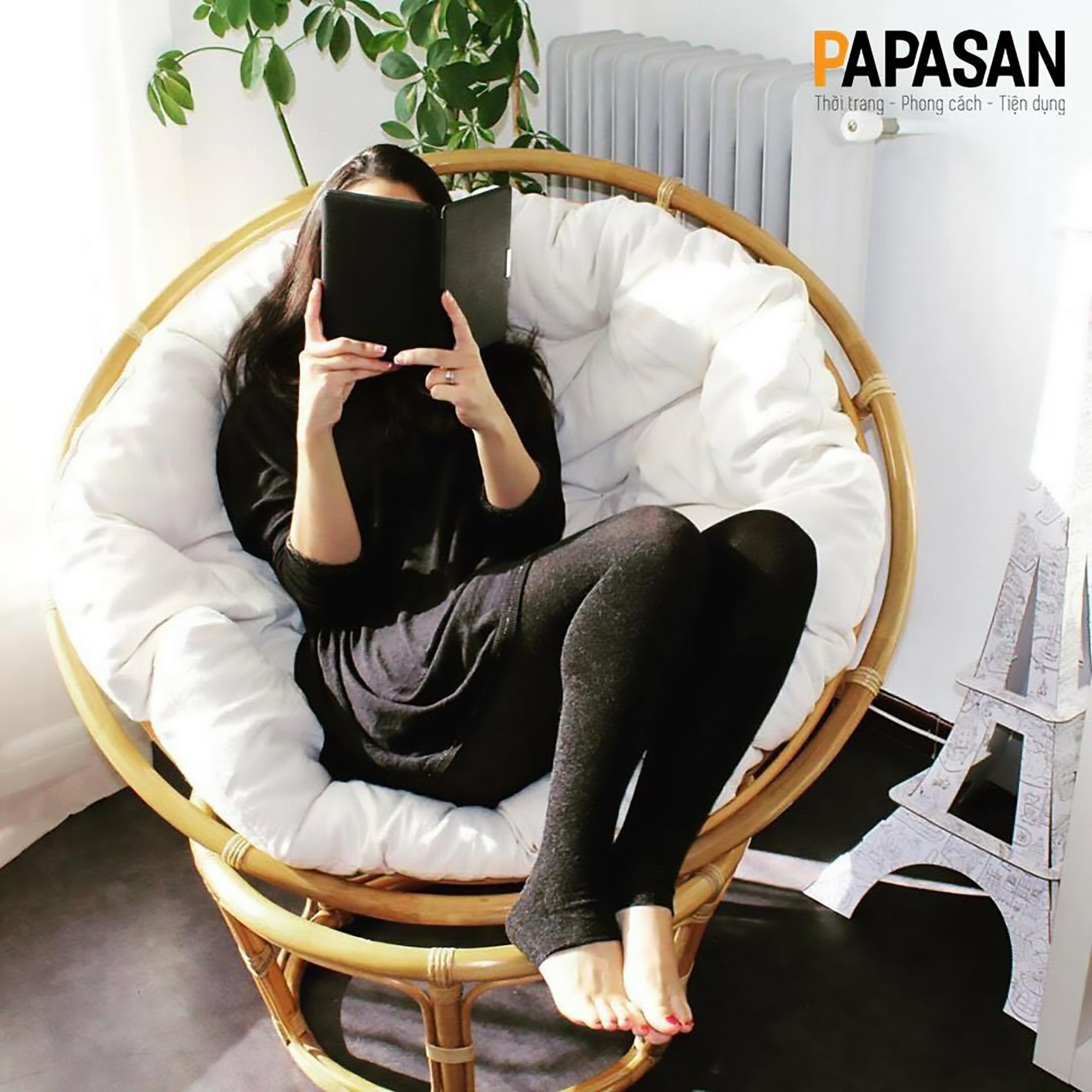 ghế đọc sách papasan