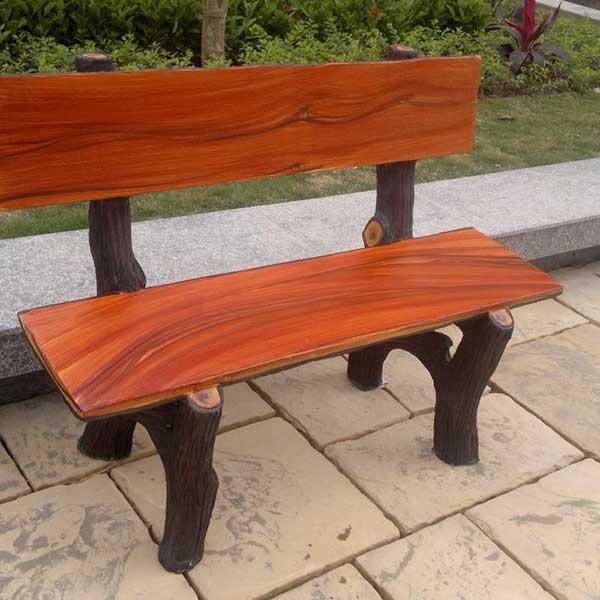 ghế xi măng giả gỗ