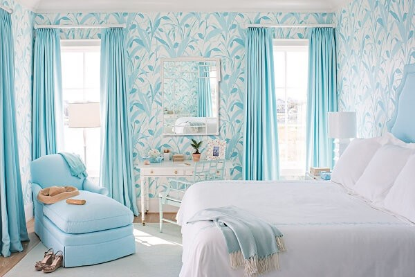 giấy dán tường phòng ngủ dịu mát