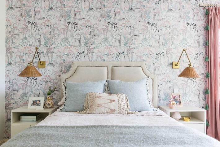 giấy dán tường phòng ngủ phong cách vintage