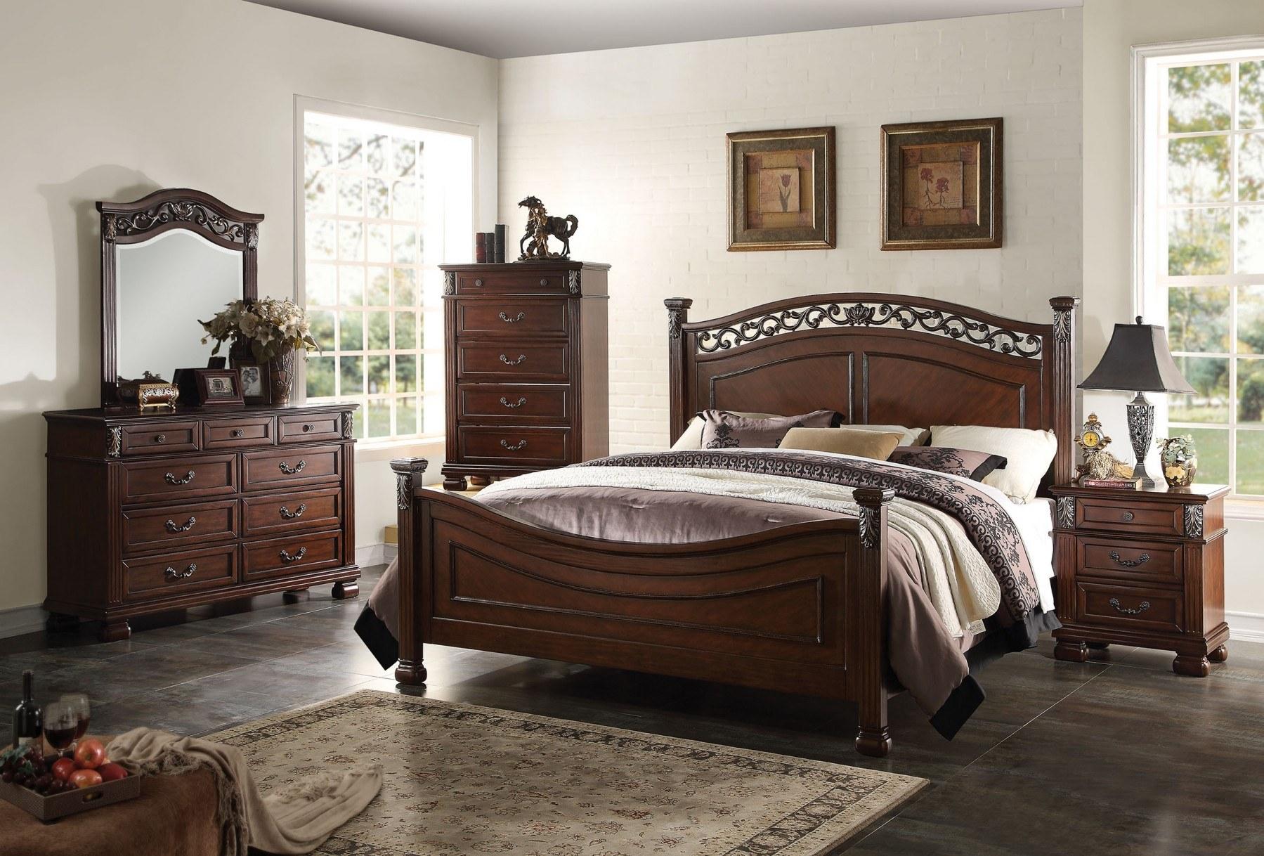 giường ngủ cổ điểnbằng gỗ tự nhiên