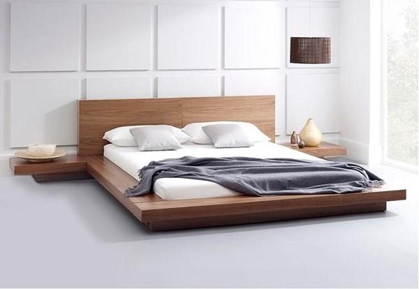 giường ngủ gỗ công nghiệp MDF phủ Veneer