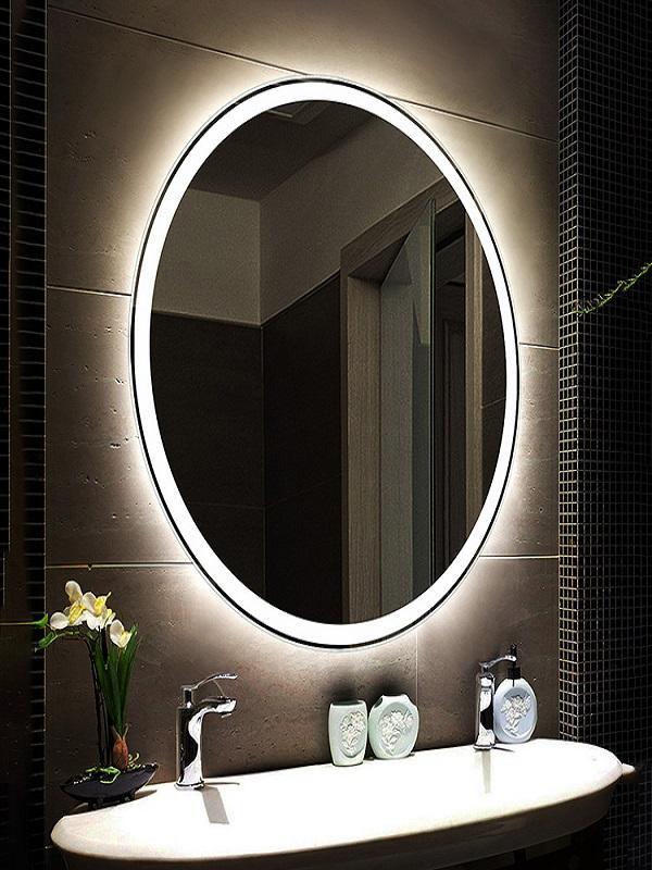 Gương trang trí chuẩn phong thuỷ phòng tắm