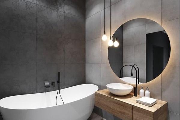 gương treo tường phòng tắm đẹp mê ly