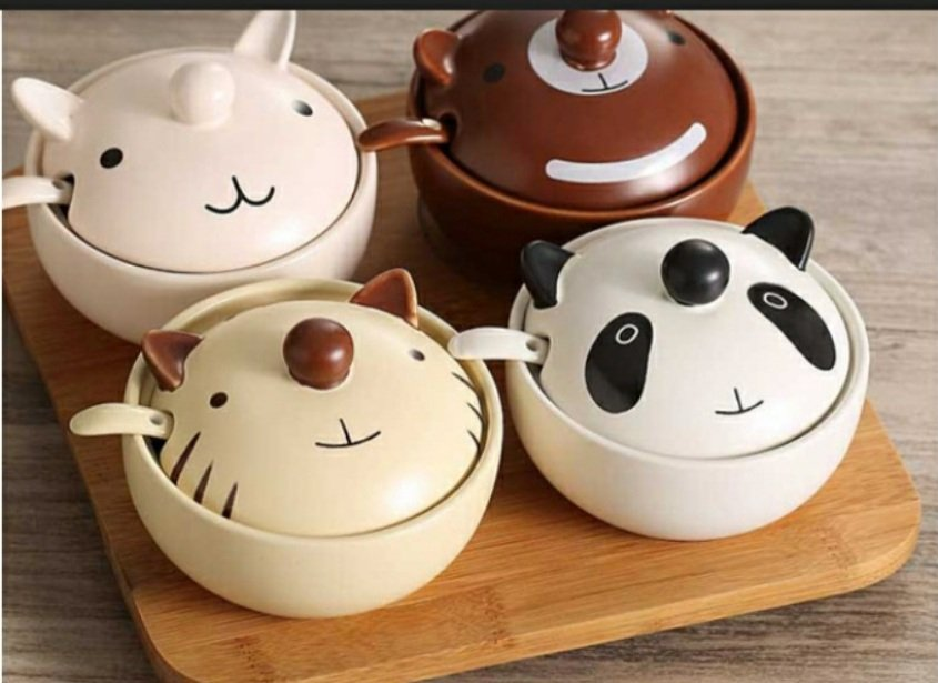 hủ đựng gia vị hoạt hình xinh xắn như gấu Panda, thỏ, mèo