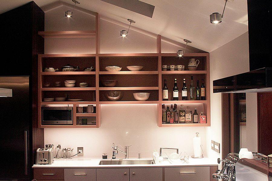 Thiết kế kệ gắn tường nhà bếp