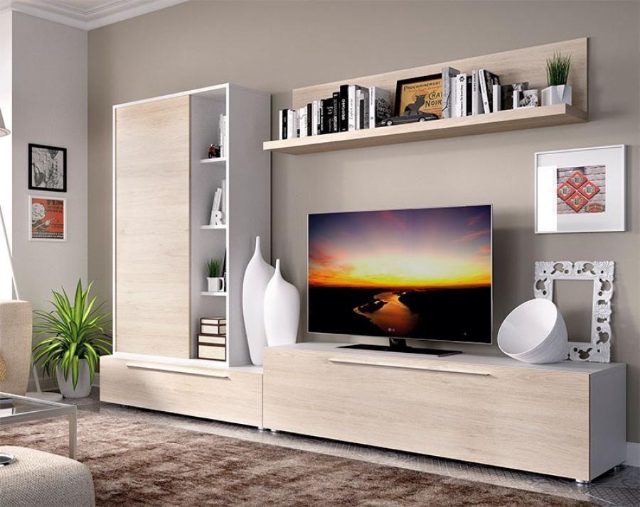 Kệ tivi kết hợp kệ trang trí