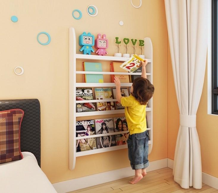 kệ sách treo tường mini cho bé