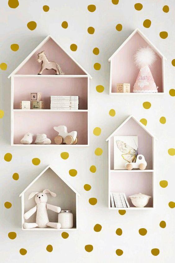 kệ sách treo tường mini cho bé hình ngôi nhà
