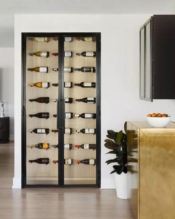 thiết kế mẫu tủ rượu độc đáo cho không gian nhỏ