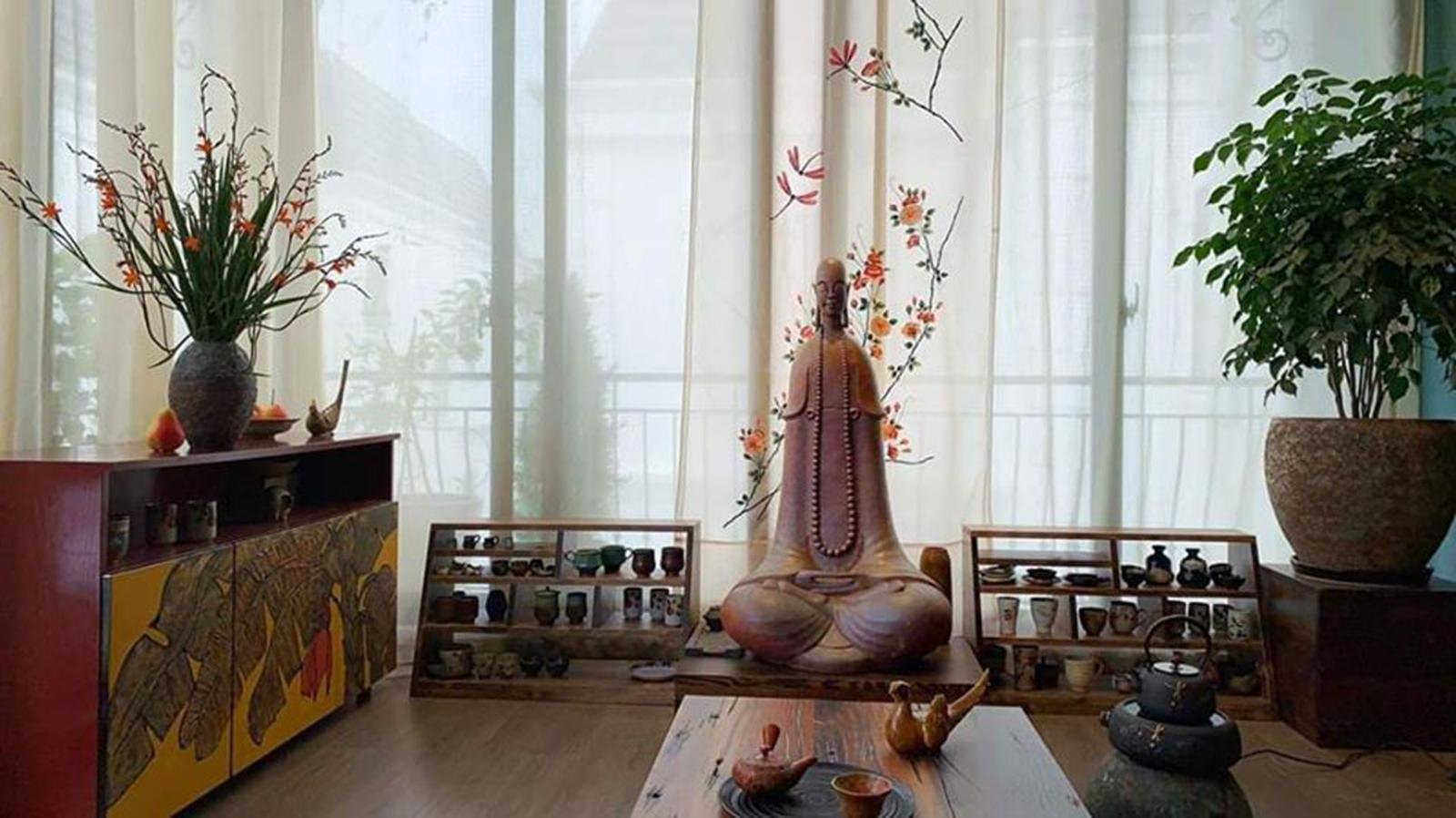 thiết kế không gian phòng thiền đơn giản đẹp mắt