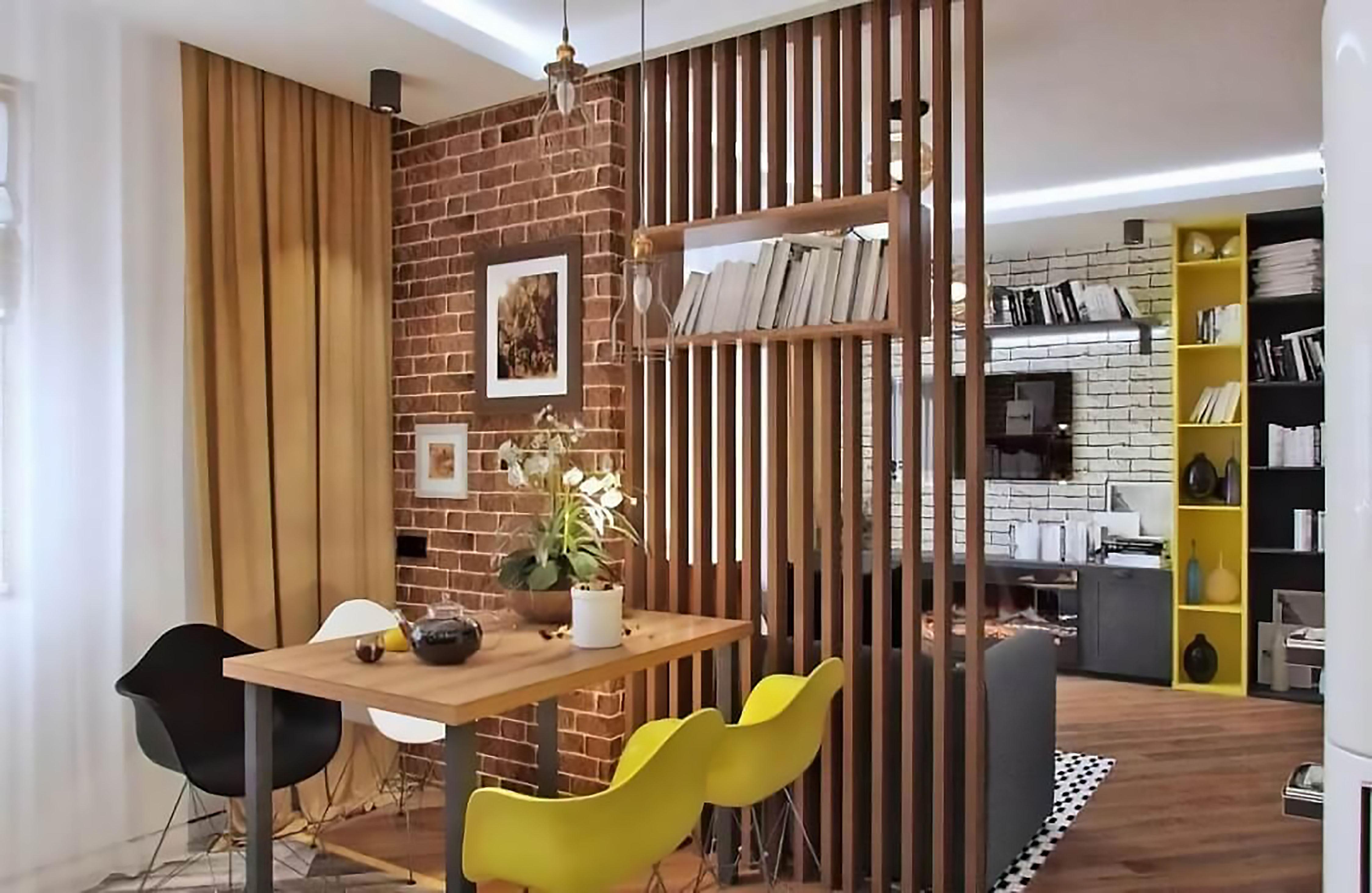 lam gỗ ngăn phòng khách với nhà bếp