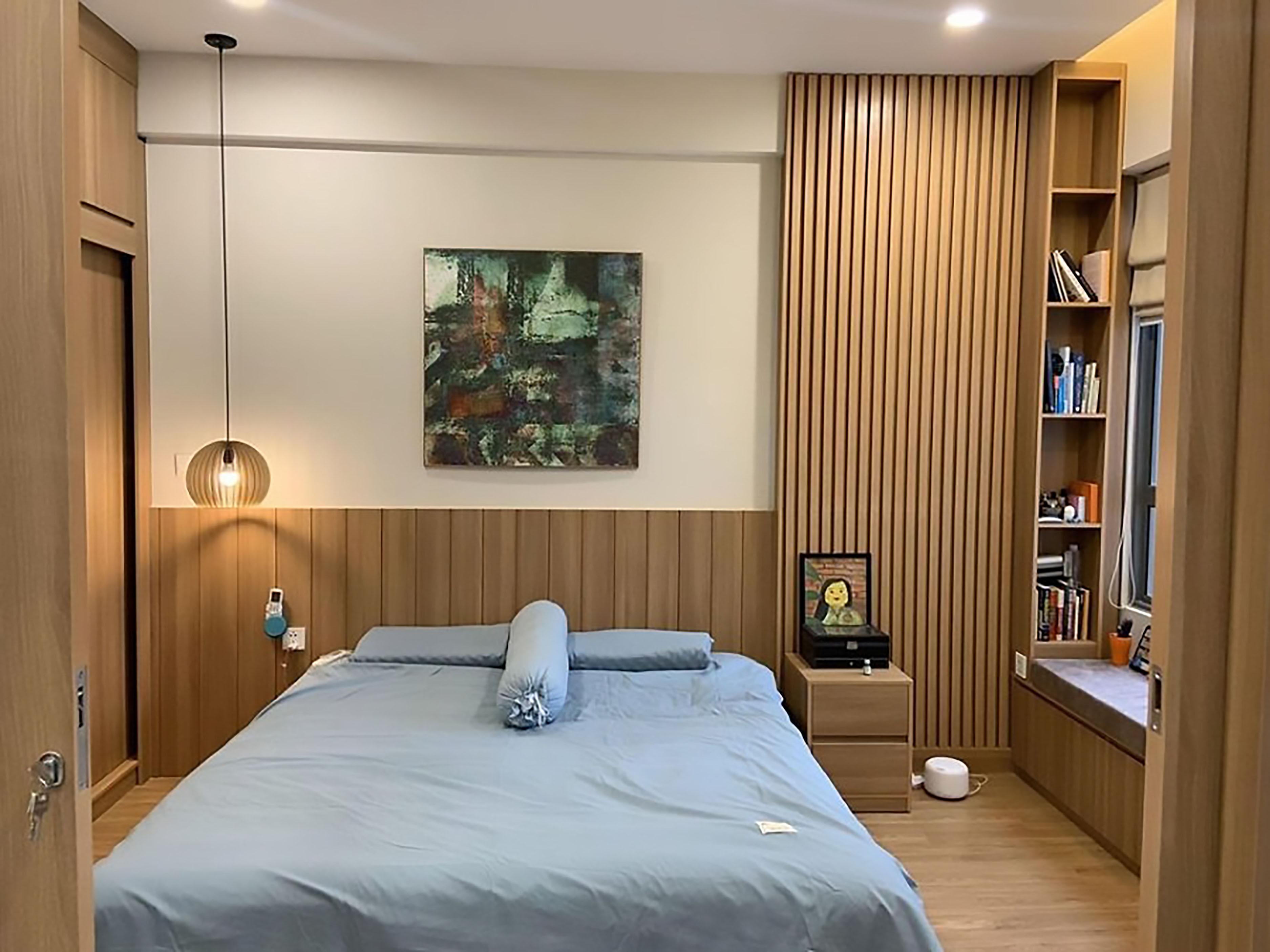 lam gỗ trang trí phòng ngủ