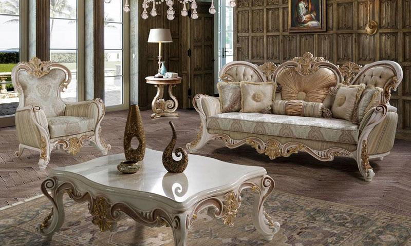 Bộ ghế Sofa và bàn trà phong cách tân cổ điển