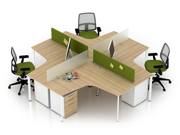 mẫu bàn làm việc được làm từ gỗ công nghiệp