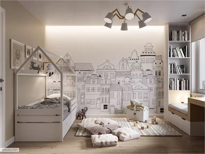 mẫu giường ngủ cho bé hình ngôi nhà