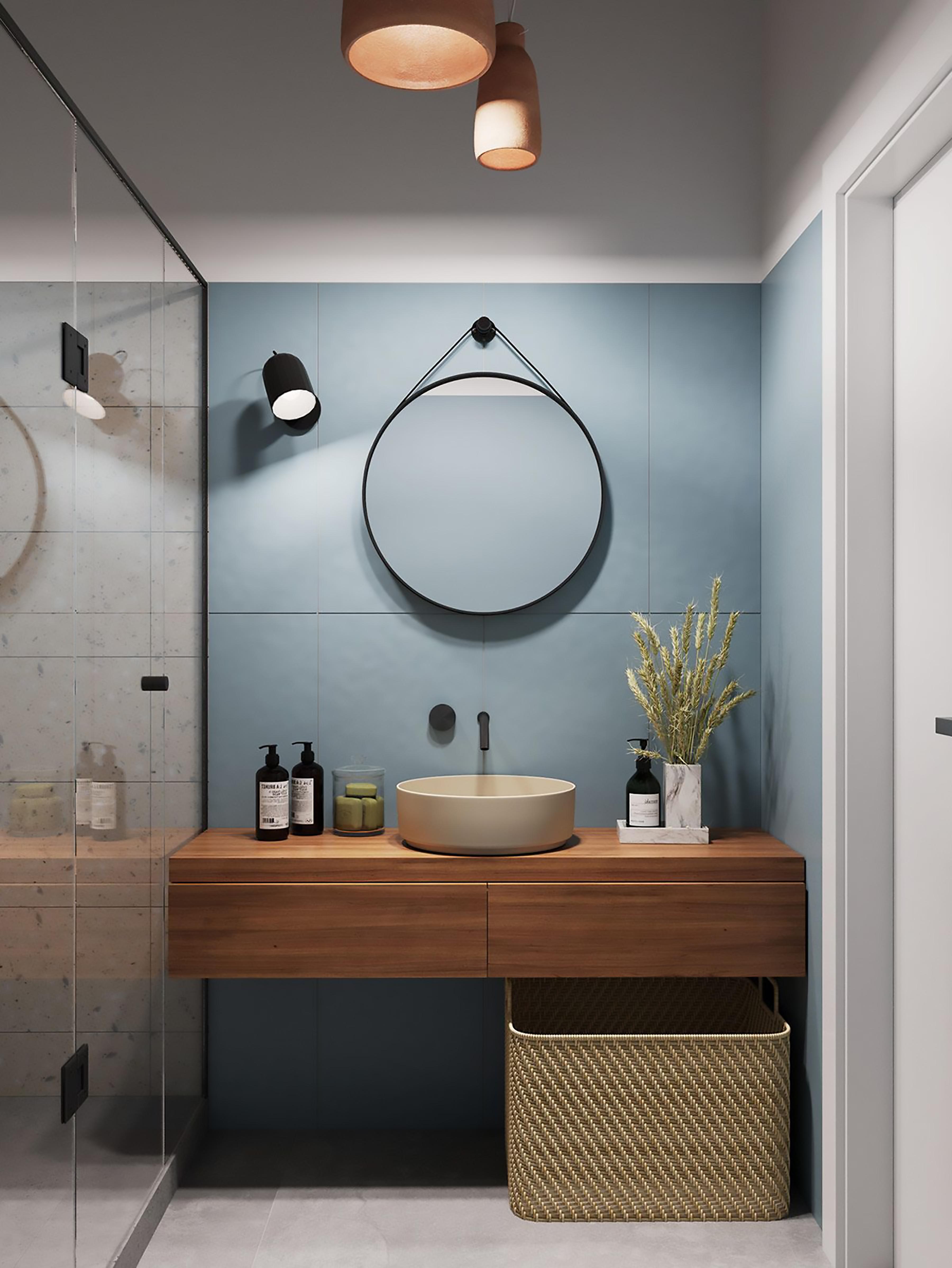phòng tắm với mẫu gương thu hút