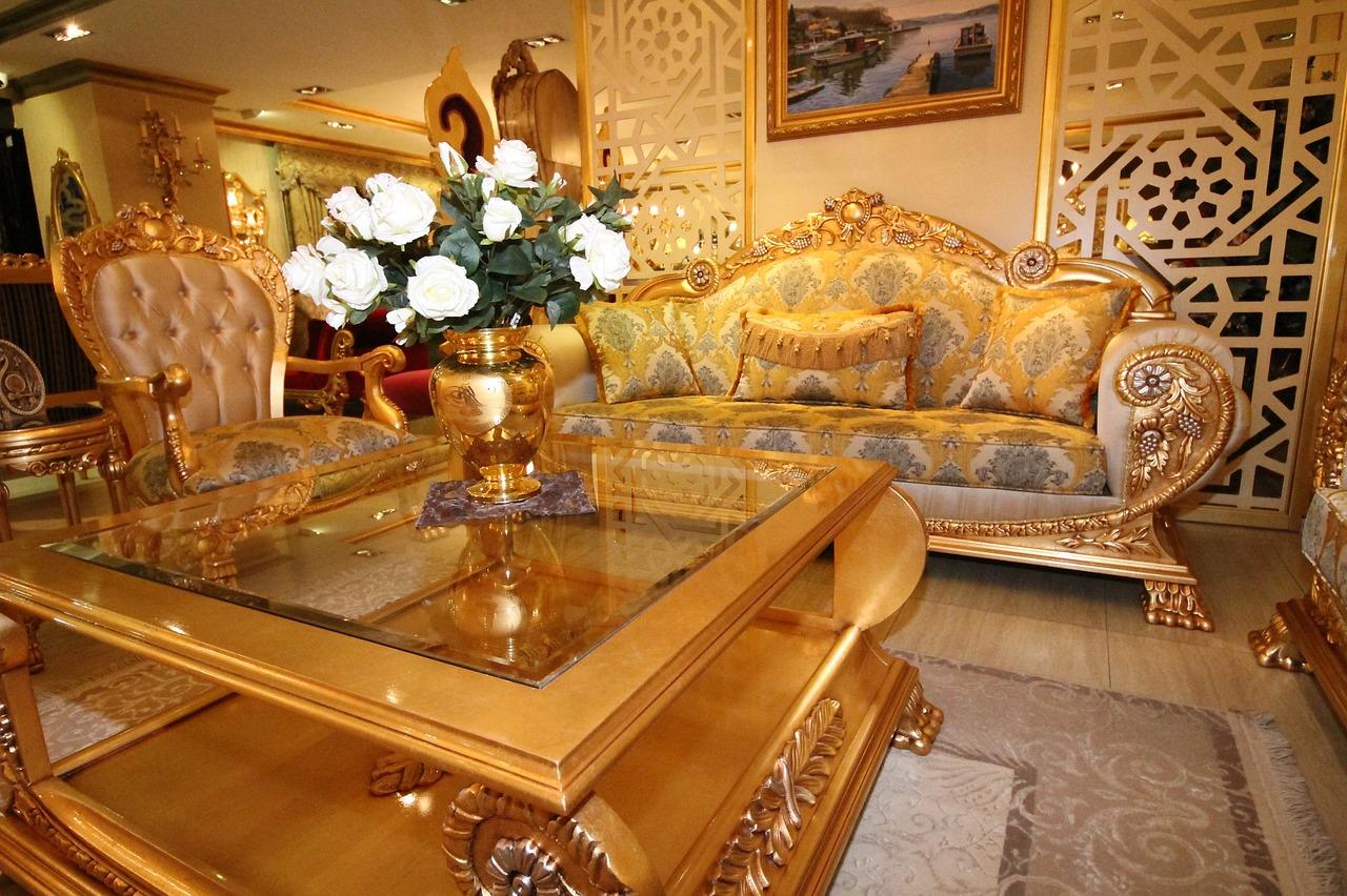 nội thất cổ điển phòng khách